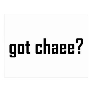 got chaee? postcard