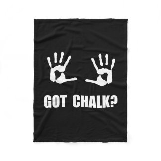 Got Chalk Fleece Blanket