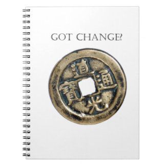 Got Change? Chinese Coin Spiral Note Book