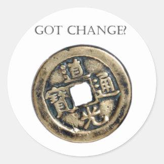 Got Change? Chinese Coin Sticker