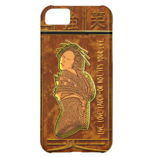 Got Characters? Japanese Design in Brown and Gold iPhone 5C Case