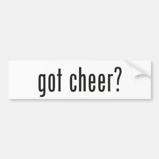 got cheer? bumper sticker