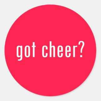 got cheer? classic round sticker