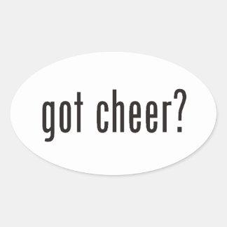 got cheer? oval sticker