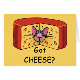 Got Cheese? notecards Card
