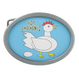 Got Chickens? Belt Buckle