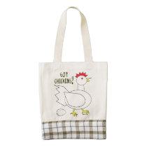 Got Chickens? Zazzle HEART Tote Bag