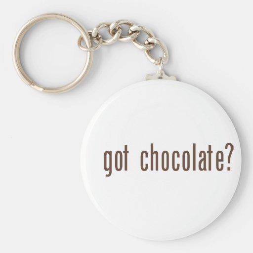 got chocolate? basic round button keychain