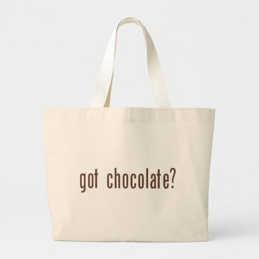 got chocolate? canvas bag