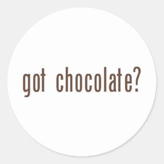 got chocolate? classic round sticker