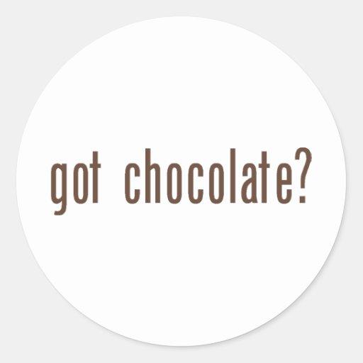 got chocolate? round sticker
