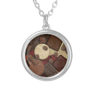 Got Chocolate? Silver Plated Necklace