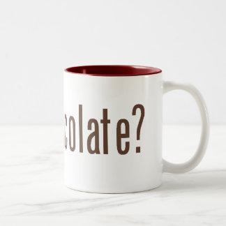 got chocolate? Two-Tone coffee mug