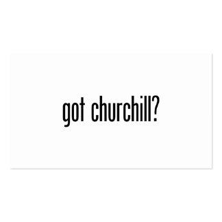 got churchill Double-Sided standard business cards (Pack of 100)