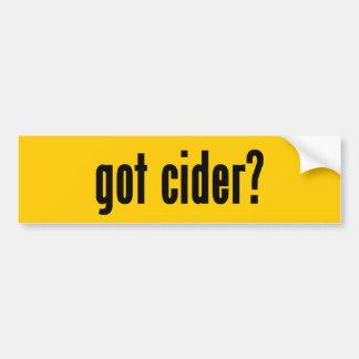 got cider? car bumper sticker