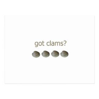 got clams? logo postcard