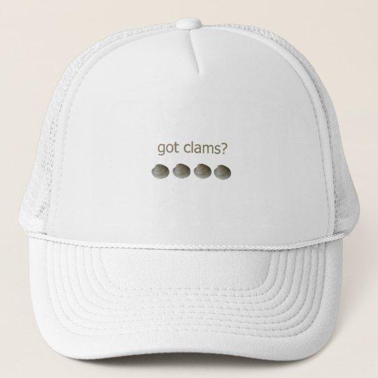 got clams? logo trucker hat