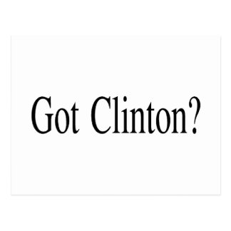 Got Clinton Postcard