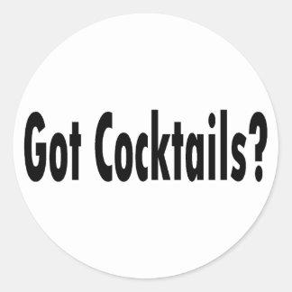 Got Cocktails Classic Round Sticker