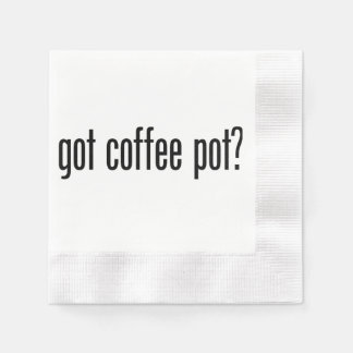 got coffee pot coined cocktail napkin