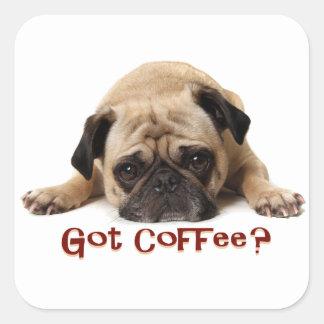 Got Coffee? Pug Sticker