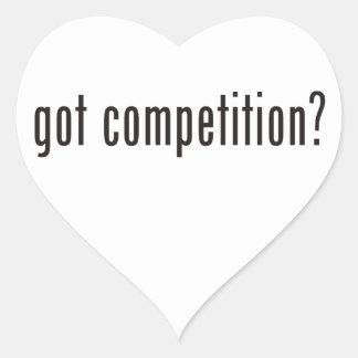 got competition? heart sticker