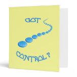 Got Control Frisbee Vinyl Binders