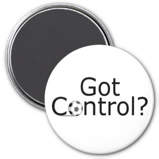 Got Control (Soccer) 3 Inch Round Magnet