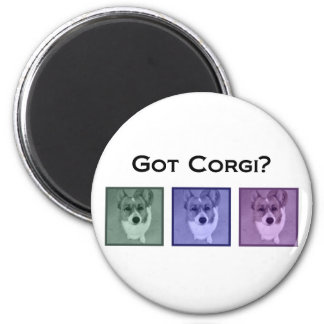 Got Corgi? Cute Corgis 2 Inch Round Magnet