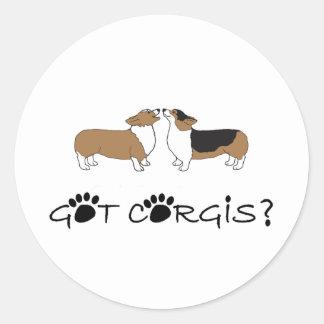 Got Corgis? Classic Round Sticker
