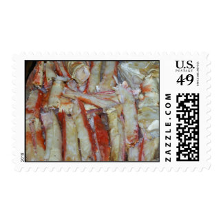Got Crabs?  A Plateful of Crab Legs Postage