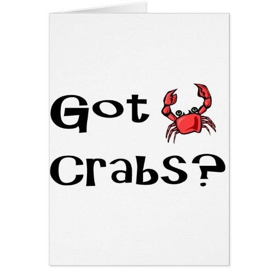 Got Crabs? Card