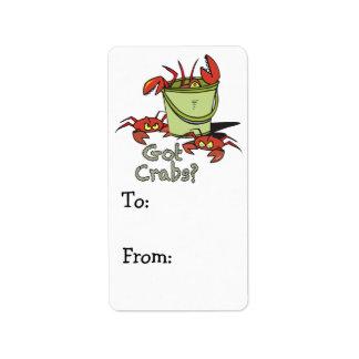 got crabs label
