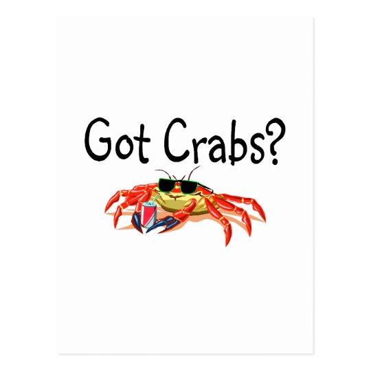 Got Crabs Postcard
