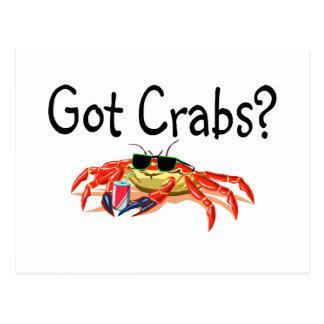 Got Crabs Post Cards