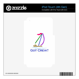 Got Crew? Skins For iPod Touch 4G