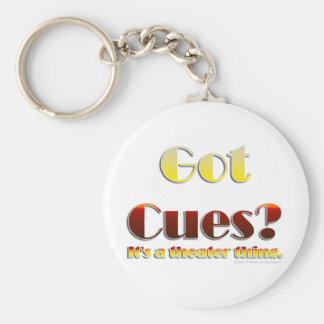 Got Cues? (Text Only) Basic Round Button Keychain
