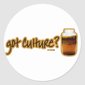 Got Culture? Kombucha Classic Round Sticker
