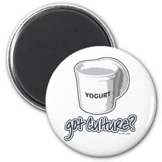 Got Culture? Yogurt 2 Inch Round Magnet