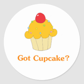 Got Cupcake Orange Classic Round Sticker