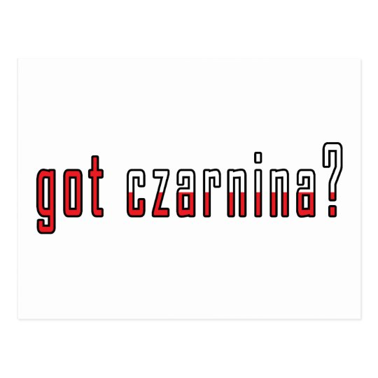 got czarnina? Flag Postcard