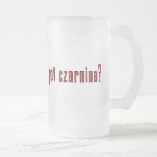 got czarnina? 16 oz frosted glass beer mug