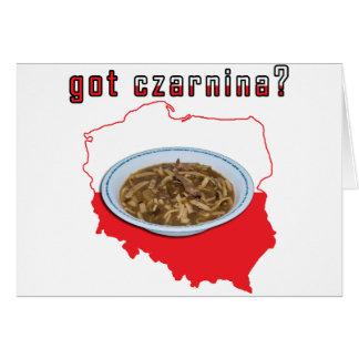 Got Czarnina Polish Map Greeting Card