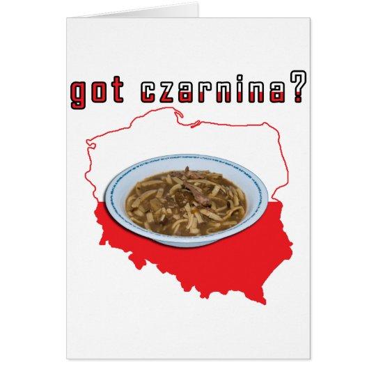Got Czarnina Polish Map Card