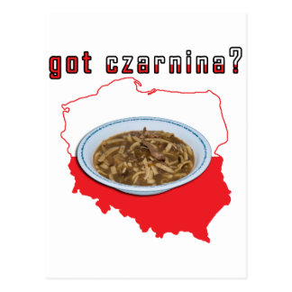 Got Czarnina Polish Map Postcard