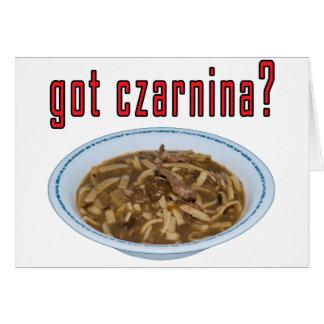 Got Czarnina? Soup Greeting Card