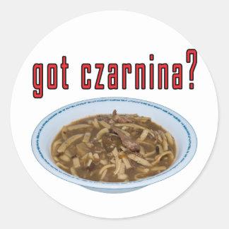 Got Czarnina? Soup Classic Round Sticker