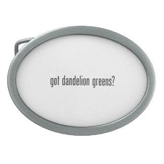 got dandelion greens belt buckle