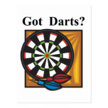 Got Darts Postcard