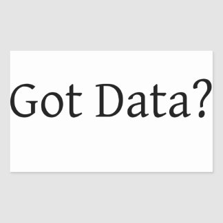Got Data Rectangle Stickers